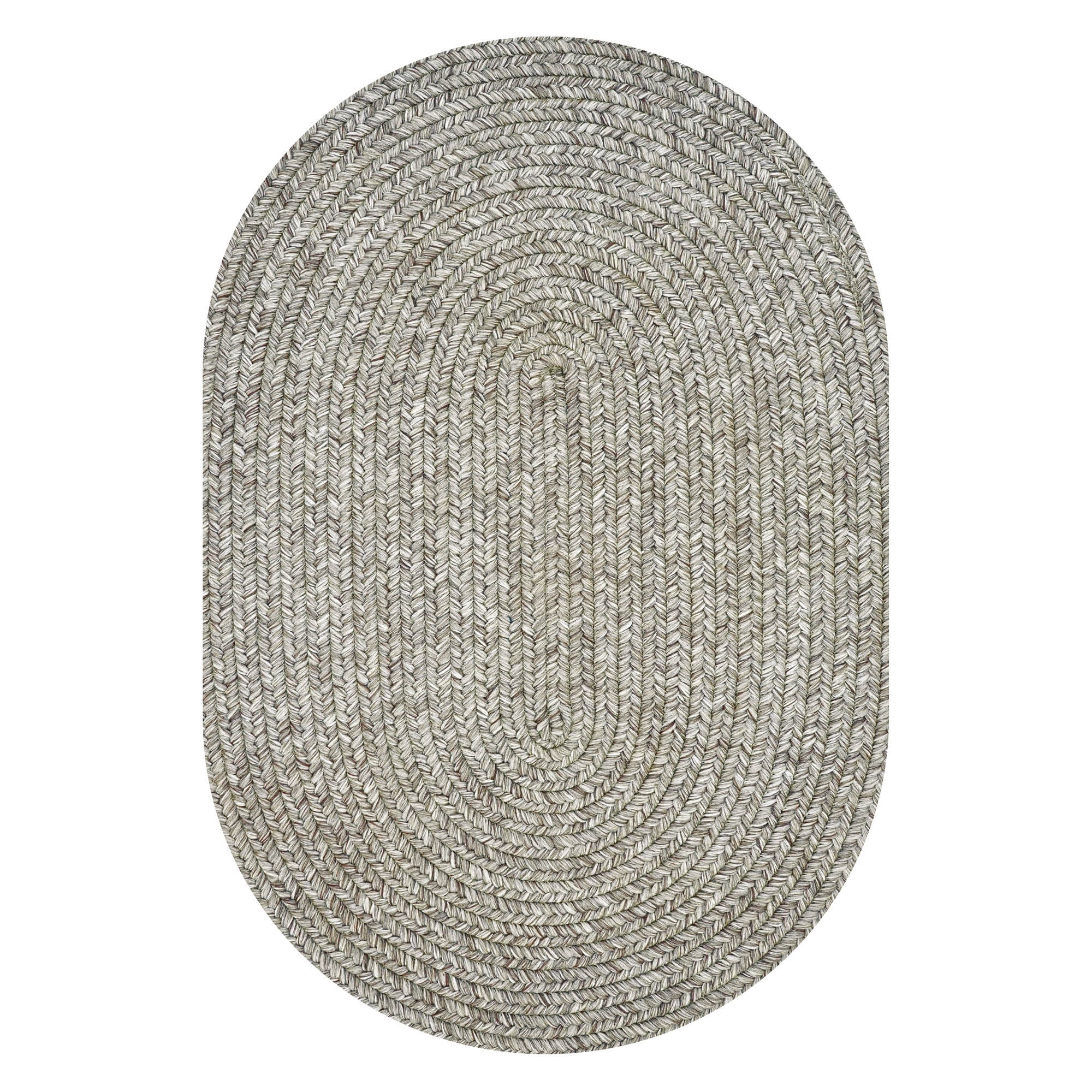 Slate Outdoor Braided Oval Rugs