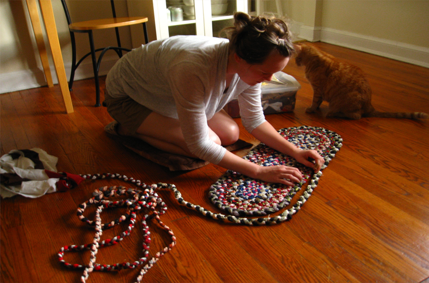 Crafting Braided Rugs from Old T-Shirts