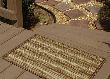 Sandy Ridge Ultra Durable Slims Indoor Outdoor Stain Proof Braided Rugs