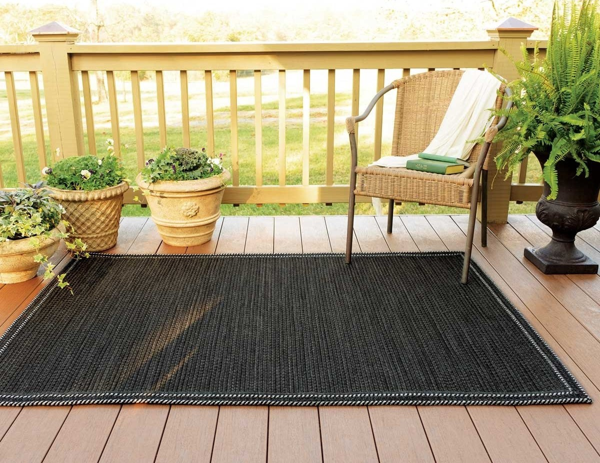 Exeter Black Ultra Durable Braided Rugs