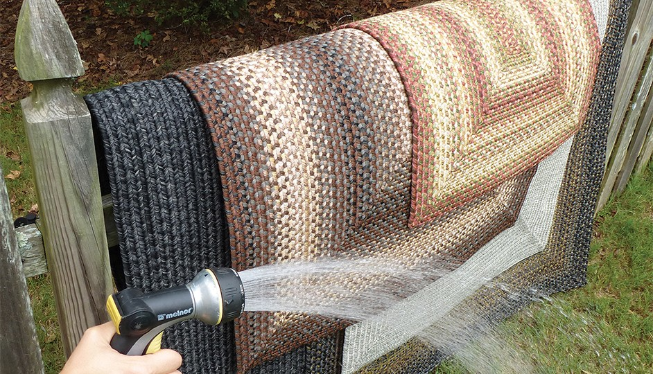 Stop Worrying about Stains and Spills with Washable, Stain-proof Braided Rugs
