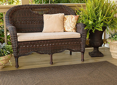 Bronze Brown Ultra Durable Braided Rugs